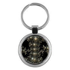 Fractal Math Geometry Backdrop Key Chains (round)