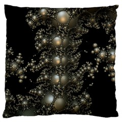 Fractal Math Geometry Backdrop Large Flano Cushion Case (one Side) by Sapixe
