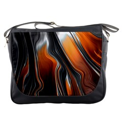 Fractal Structure Mathematics Messenger Bags