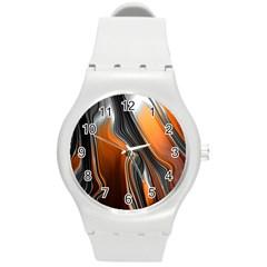 Fractal Structure Mathematics Round Plastic Sport Watch (m)
