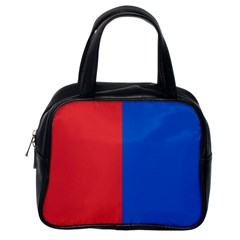 Red And Blue Classic Handbags (one Side)