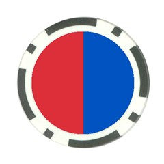Red And Blue Poker Chip Card Guard (10 Pack)