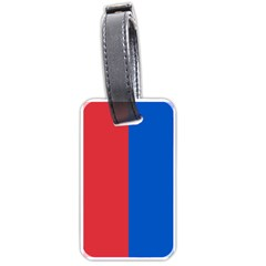 Red And Blue Luggage Tags (one Side)