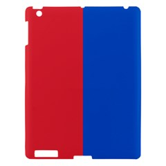 Red And Blue Apple Ipad 3/4 Hardshell Case
