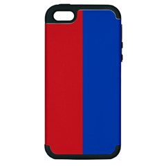 Red And Blue Apple Iphone 5 Hardshell Case (pc+silicone)