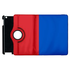 Red And Blue Apple Ipad 2 Flip 360 Case