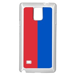 Red And Blue Samsung Galaxy Note 4 Case (white)