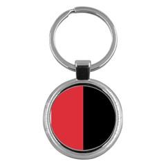 Red And Black Key Chains (round)  by jumpercat