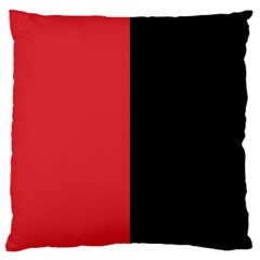 Red And Black Large Cushion Case (two Sides)