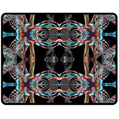 Fractal Math Design Backdrop Fleece Blanket (medium)
