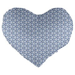 Abstract Ornament Tiles Large 19  Premium Heart Shape Cushions