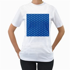 Star Light Women s T Shirt (white) (two Sided)