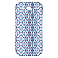 Vibrant Red And Blue Triangle Grid Samsung Galaxy S3 S Iii Classic Hardshell Back Case by jumpercat
