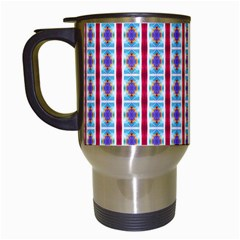 Arabic Ornament Stripes Travel Mugs (white)