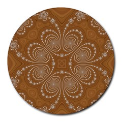 Fractal Pattern Decoration Abstract Round Mousepads by Sapixe