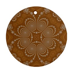 Fractal Pattern Decoration Abstract Ornament (round)