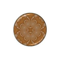 Fractal Pattern Decoration Abstract Hat Clip Ball Marker (4 Pack)