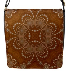 Fractal Pattern Decoration Abstract Flap Messenger Bag (s)