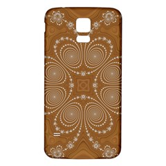 Fractal Pattern Decoration Abstract Samsung Galaxy S5 Back Case (white)