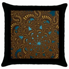 Fractal Abstract Pattern Throw Pillow Case (black)