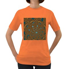 Fractal Abstract Pattern Women s Dark T Shirt