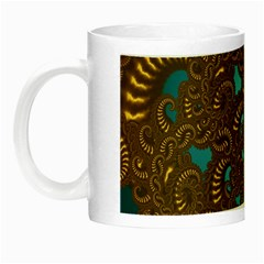 Fractal Abstract Pattern Night Luminous Mugs