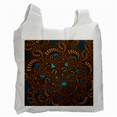 Fractal Abstract Pattern Recycle Bag (one Side)