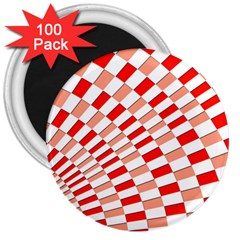 Graphics Pattern Design Abstract 3  Magnets (100 Pack)