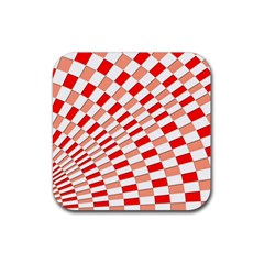 Graphics Pattern Design Abstract Rubber Square Coaster (4 Pack)