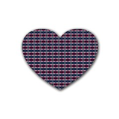 Elegant Dark Stripes Rubber Coaster (heart)  by jumpercat