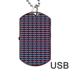Elegant Dark Stripes Dog Tag Usb Flash (two Sides)