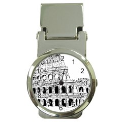 Line Art Architecture Money Clip Watches
