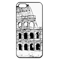 Line Art Architecture Apple Iphone 5 Seamless Case (black)