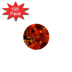 Leaf Autumn Nature Background 1  Mini Magnets (100 Pack)