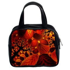 Leaf Autumn Nature Background Classic Handbags (2 Sides)