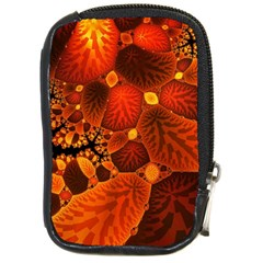 Leaf Autumn Nature Background Compact Camera Cases