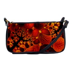 Leaf Autumn Nature Background Shoulder Clutch Bags by Sapixe