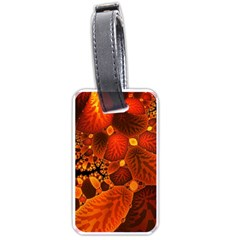 Leaf Autumn Nature Background Luggage Tags (one Side)  by Sapixe