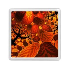 Leaf Autumn Nature Background Memory Card Reader (square)  by Sapixe