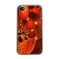 Leaf Autumn Nature Background Apple Iphone 4 Case (clear)