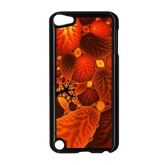Leaf Autumn Nature Background Apple Ipod Touch 5 Case (black) by Sapixe
