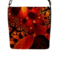 Leaf Autumn Nature Background Flap Messenger Bag (l)  by Sapixe