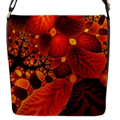 Leaf Autumn Nature Background Flap Messenger Bag (s) by Sapixe