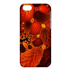 Leaf Autumn Nature Background Apple Iphone 5c Hardshell Case