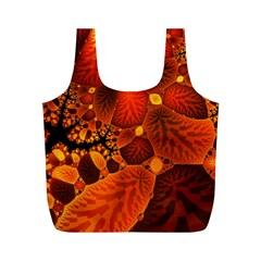 Leaf Autumn Nature Background Full Print Recycle Bags (m)
