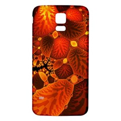 Leaf Autumn Nature Background Samsung Galaxy S5 Back Case (white)