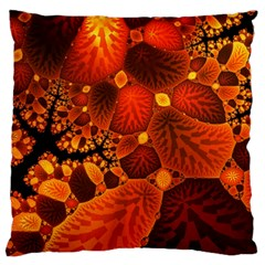 Leaf Autumn Nature Background Large Flano Cushion Case (two Sides) by Sapixe