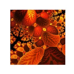 Leaf Autumn Nature Background Small Satin Scarf (square)