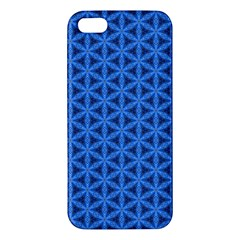 Blue Snake Scales Pattern Apple Iphone 5 Premium Hardshell Case