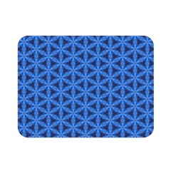 Blue Snake Scales Pattern Double Sided Flano Blanket (mini)